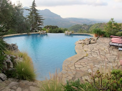 This gorgeous naturally designed pool had one of the best views I've ever seen.
