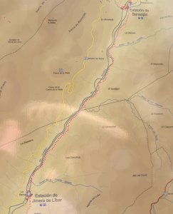 Our route from Jimera del Libar to Benoajan.