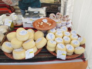 Little Portuguese cheeses, a snip at 1 euro each.
