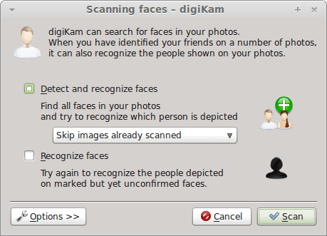 New Features in digiKam 2.0: Face Recognition