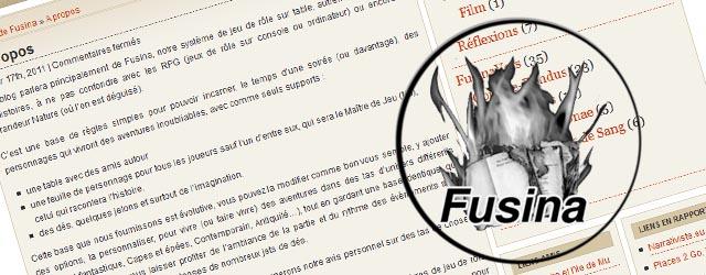 FUSINA, système de jeu de rôle gratuit à télécharger