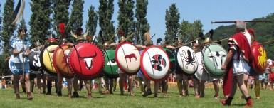 Phalange Etrusque lors d'une reconstitution