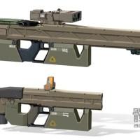 Les armes futuristes dessinées par Aaron Beck
