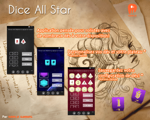 dice all stars Dice All Star   lanceur de dés sous Windows Phone