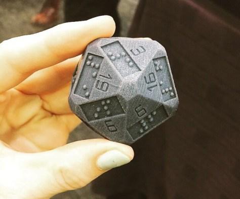 D20 imprimé par une imprimante 3D