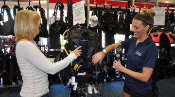 The look and feel of a dive shop should exude the culture of diving and have a passionate, excited staff.