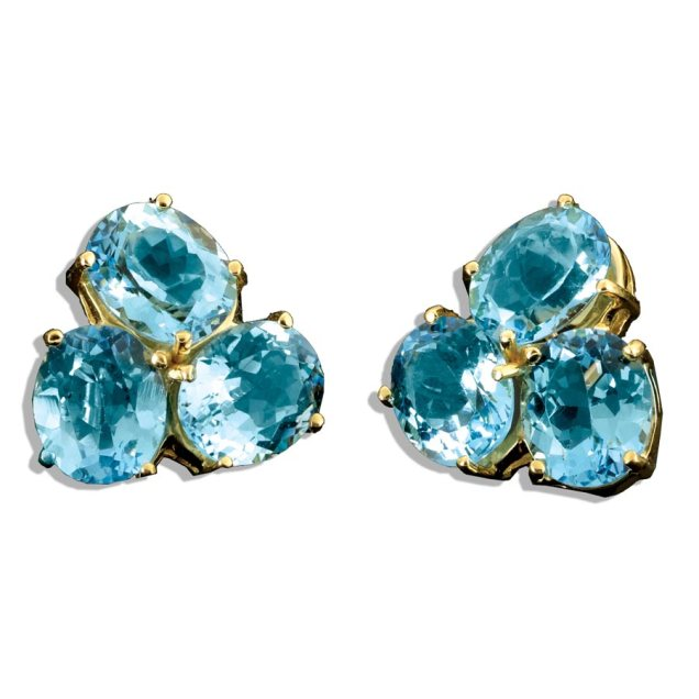 3-stone blue topaz earrings scully and scully