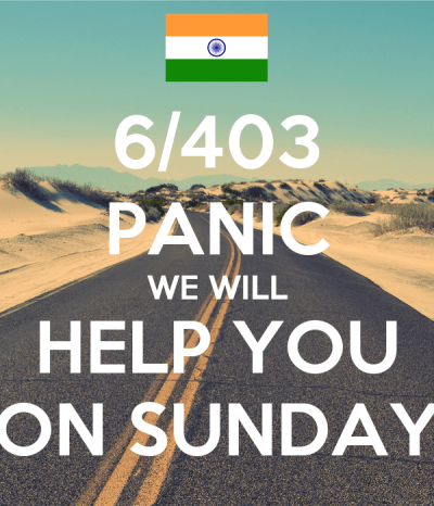 6/403 PANIC WE WILL HELP YOU ON SUNDAY Poster | Sneh | Keep Calm-o-Matic