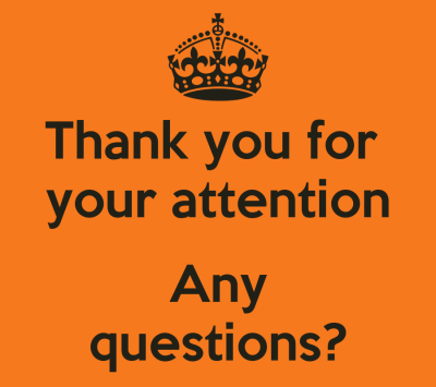 Thank you for your attention Any questions? Poster   Rebecca   Keep Calm-o-Matic