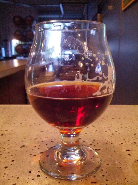 Bourbon barrel aged strong ale.
