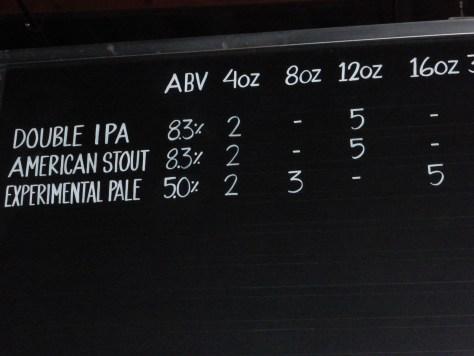 Seasonal Beers on Tap.