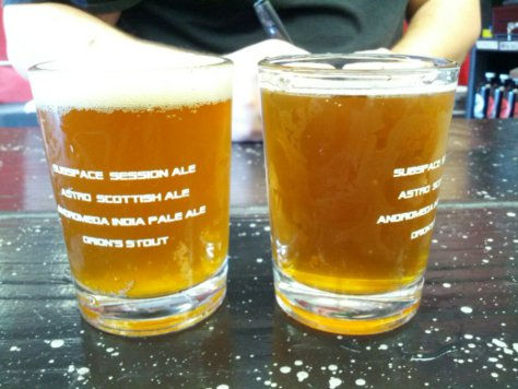 Triple IPA (left) Imperial Pilsner (right)