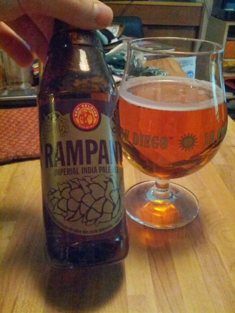 New Belgium Rampant Double IPA.