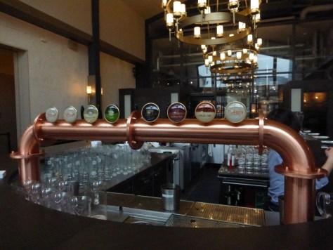 T.Y. Harbor Brewery Taps.