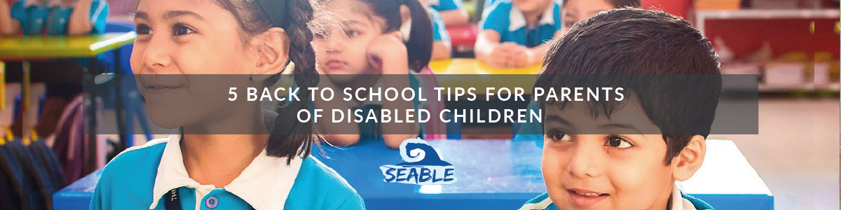 children are sitting in class with the caption 5 back to school tips for parents of disabled children