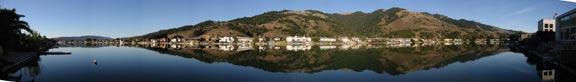Seadrift Lagoon Panorama - Click to enlarge photo