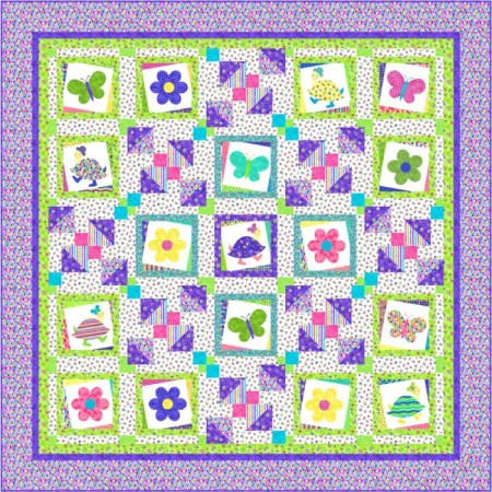 Tumbled - a topsy turvy quilt by Kate Colleran