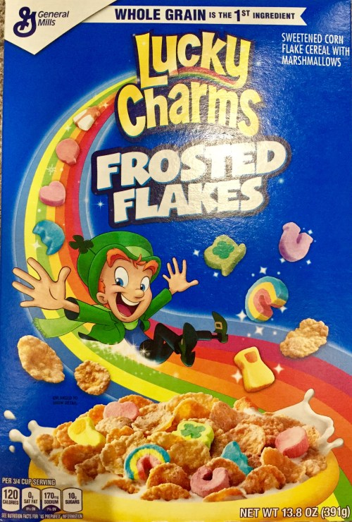 Medium Of Lucky Charms Frosted Flakes