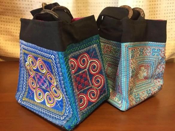 ベトナムお土産 花モン族の刺繍バッグ