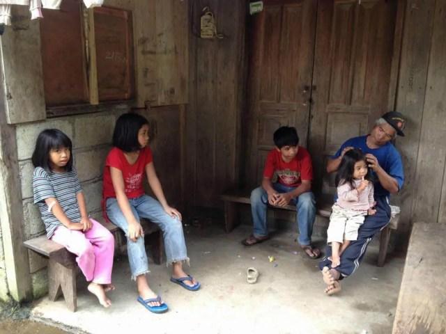フィリピン、バナウェ。バナウェの子供たち