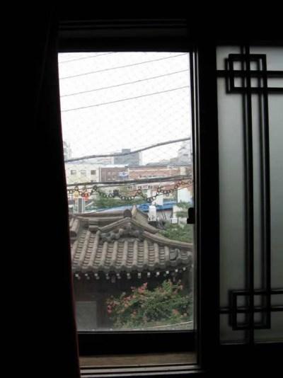 新宮荘旅館【신궁장여관】の部屋からの眺め 【韓国】