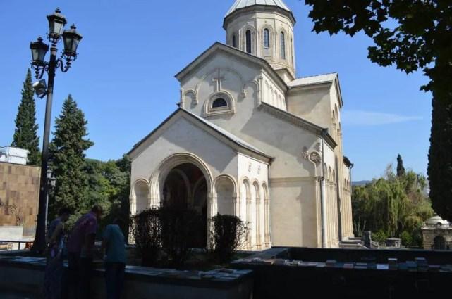 トビリシ、ルスタヴェリ大通りの教会【ジョージア(グルジア)Georgia:საქართველო】