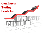 Continuous Testing Leads to Continuous Improvement