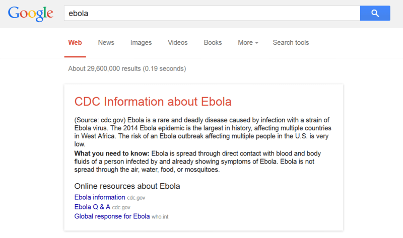 ebola search results