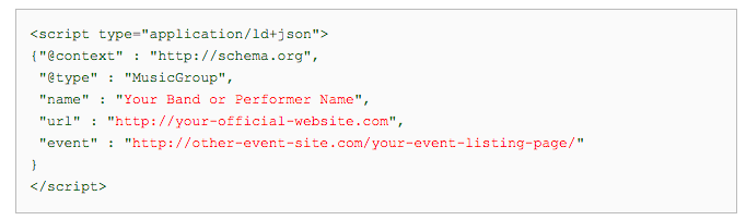 google-events-markup