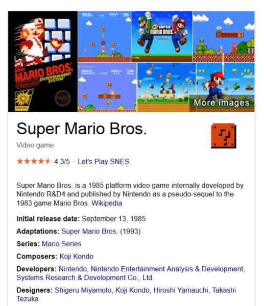 Super Mario easter egg