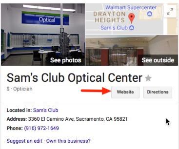 Sams Club Optical Center