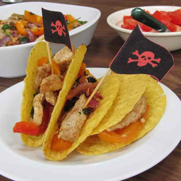 Pirate ship turkey tacos