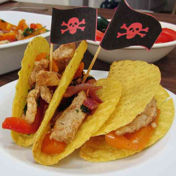 pirate boat turkey tacos