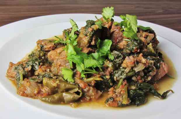 Lamb Saag - Lamb and Spinach curry