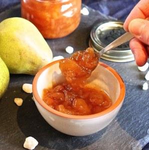 brown sugar pear ginger preserves