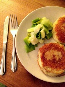 Goats cheese and potato patties