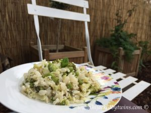 green veg and mint risotto