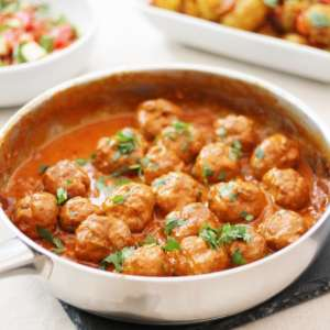 turkey tikka masala meatballs