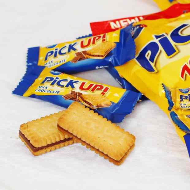 pick up mini biscuits