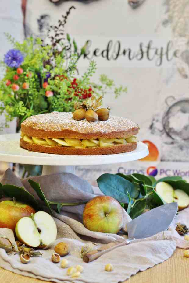 #BakedinStyle Food styling and photographyevent hazelnut torte