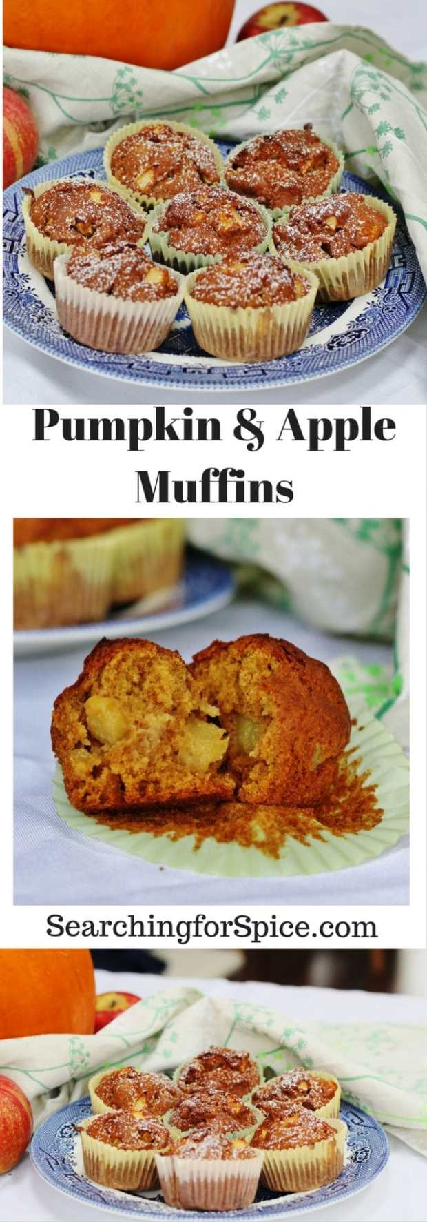 Pumpkin and apple muffins