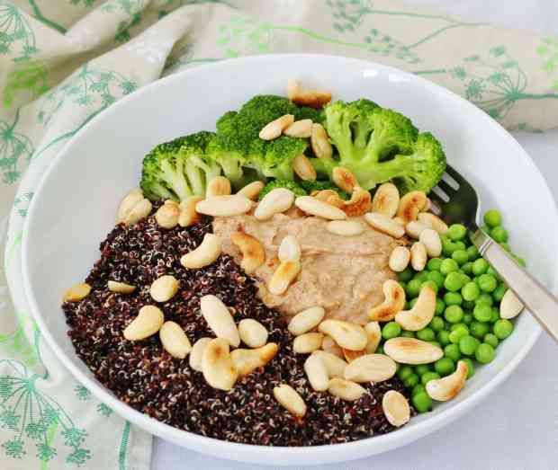 Three nut protein power bowl