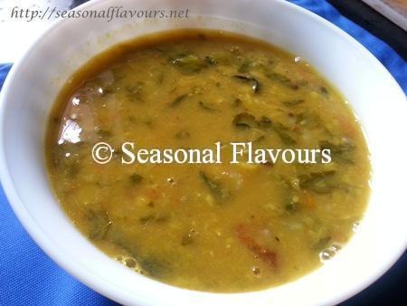 Methi Dal/Andhra Menthi Kura Pappu/Lentils Cooked With Fenugreek ...