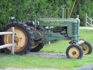 John Deere tractor at White Oak Farms in Warren, Maine