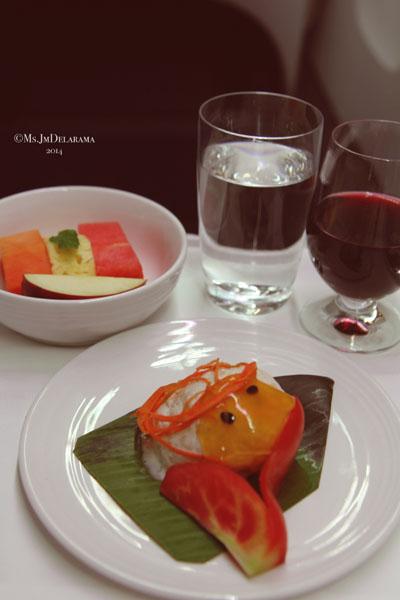 Dessert: Gajar Ka Tukda with Rabdi (cardamom flavoured sweetened carrot dessert served on bed of rich reduced milk