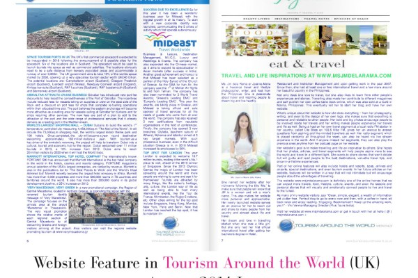 Website featured in Tourism Around the World