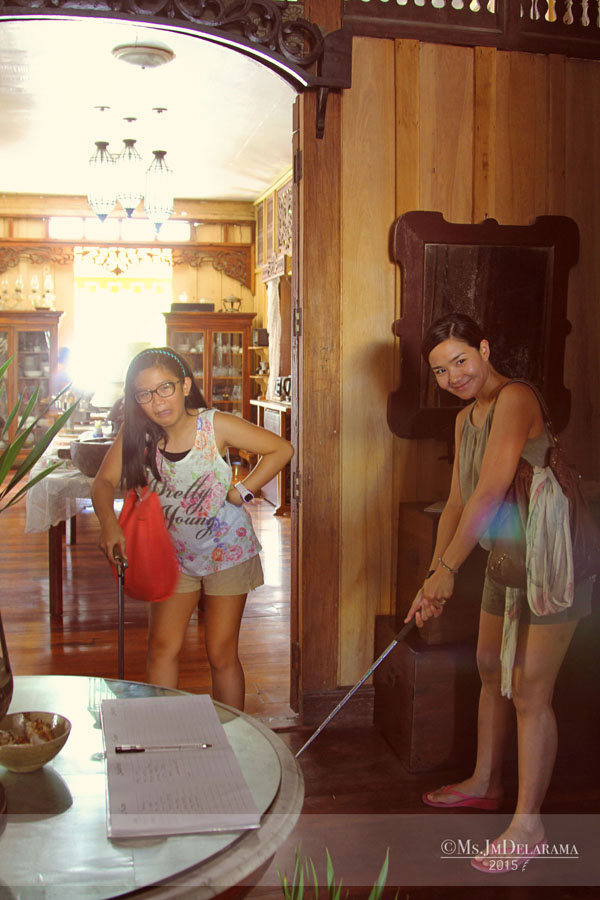Old things and antiques! This mom and daughter duo whose family is into golf obviously loved and enjoyed the vintage golf clubs here.