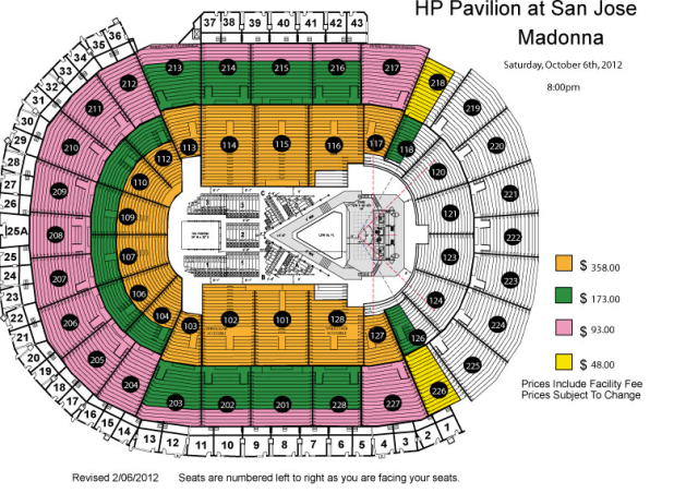 Madonna Pittsburgh Seating Chart