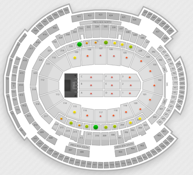 Madonna Msg Seating Chart Nyc