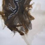 Tanz 50 x 70 Tusche, Kreide auf Papier 2001